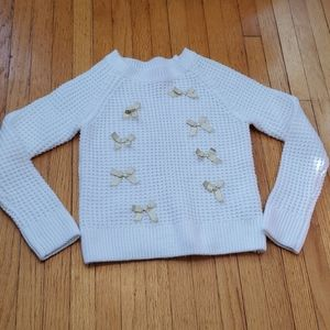 Nwot bow knit sweater